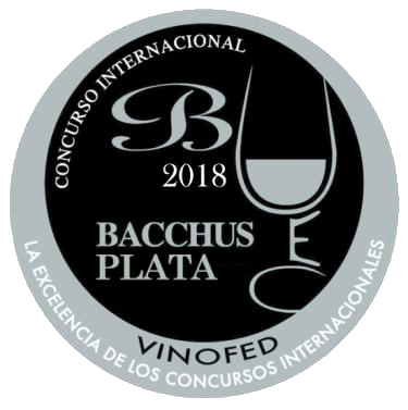 2011 vintage awarded the International Silver Bacchus at the XVI International Wine Competition, 2018, Madrid (Spain).